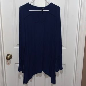 Flare-Sleeved Blouse